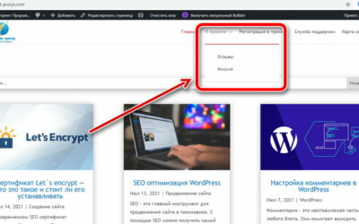 Как сделать выпадающее меню в WordPress